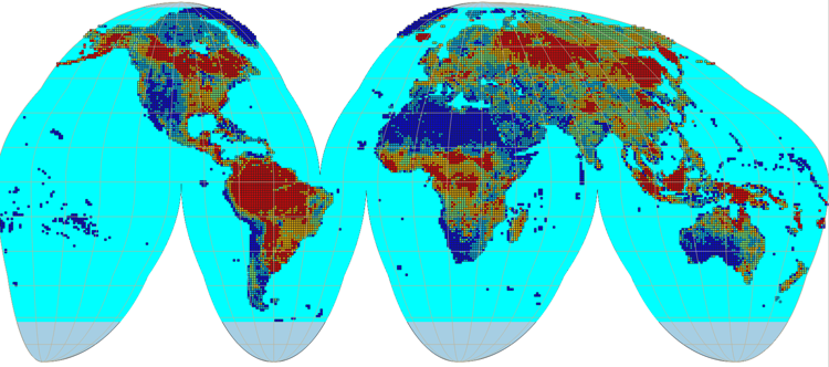 Global river density, seasonal and surface water occurrence ...
