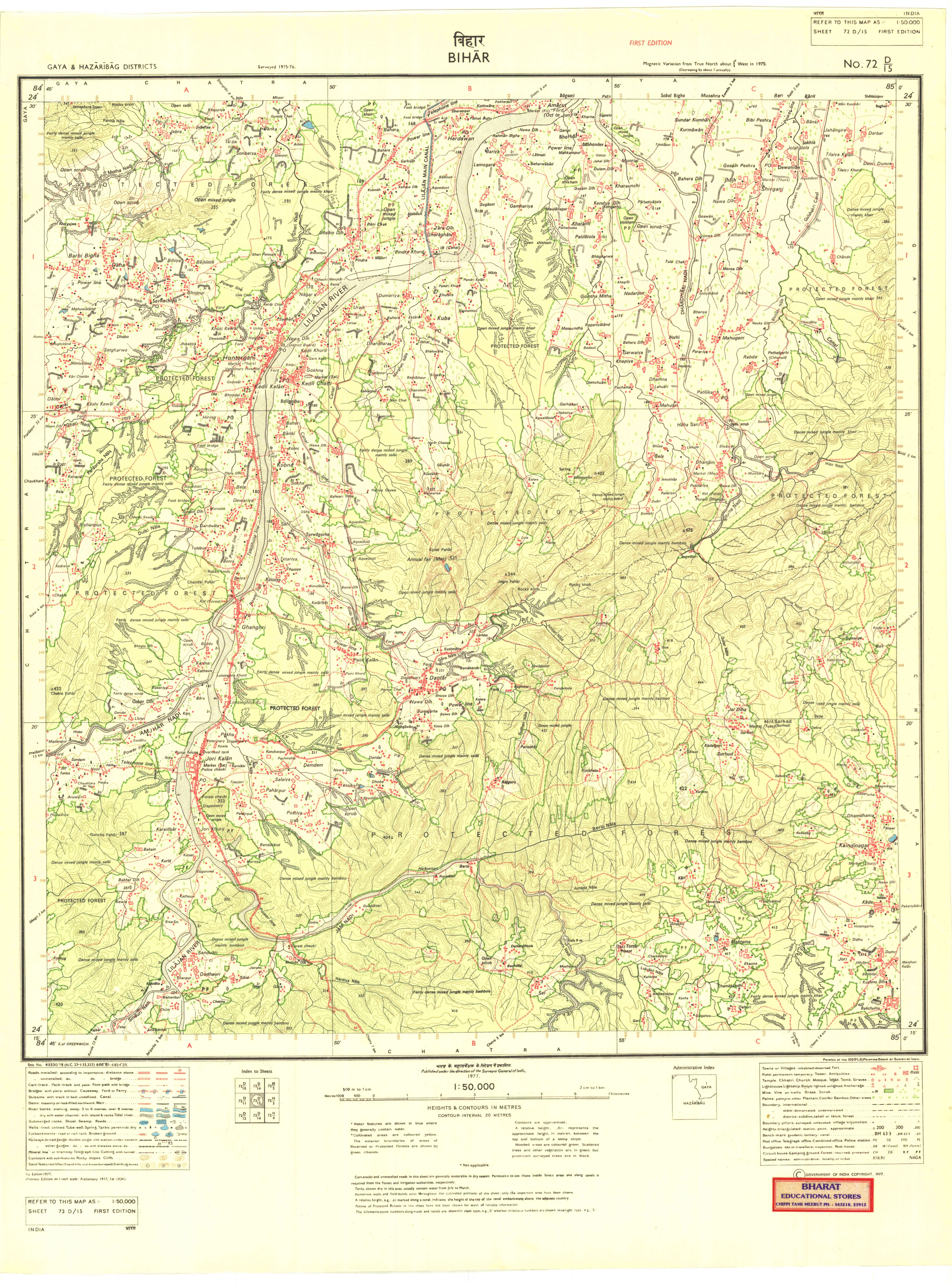 Survey of India Topo Sheet 72D15 1977 1st Edition   Zenodo